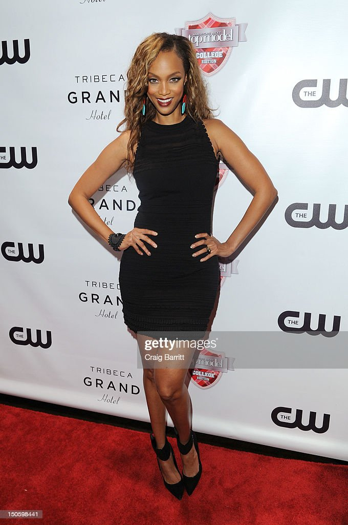 Tyra Banks attends the 'America's Next Top Model: College Edition, Cycle 19' Premiere at the Tribeca Grand Hotel on August 22, 2012 in New York City.