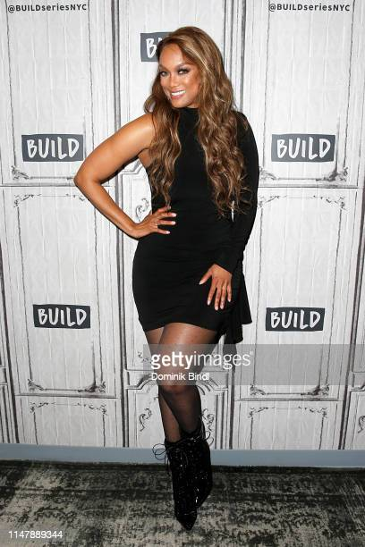 Tyra Banks attends the Build Series to discuss '2019 Sports Illustrated Swimsuit Issue' at Build Studio on May 08, 2019 in New York City.