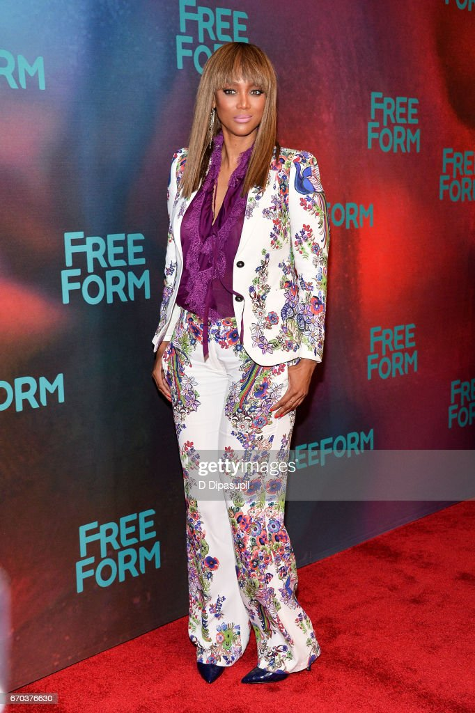 Tyra Banks attends the Freeform 2017 Upfront at Hudson Mercantile on April 19, 2017 in New York City.