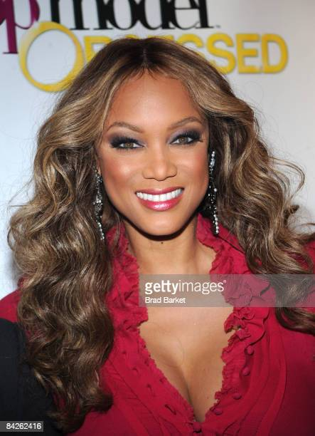 Tyra Banks attends the launch party for 'America's Next Top Model' at Gotham Hall on January 12 2009 in New York City