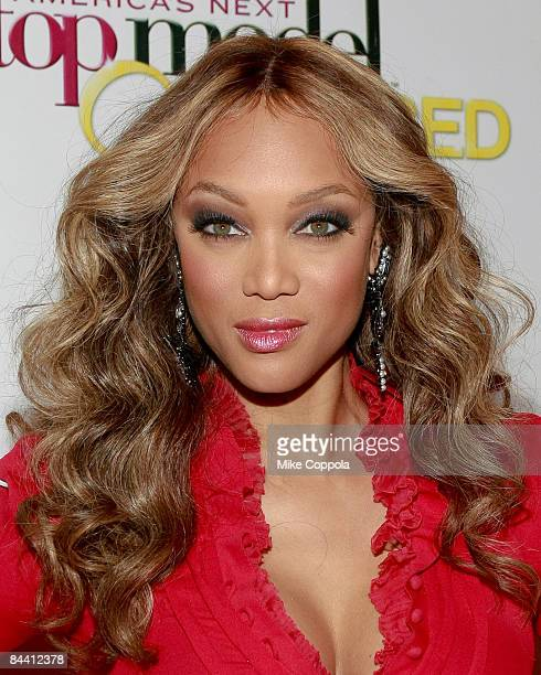 Tyra Banks attends the launch party for America's Next Top Model at Gotham Hall on January 12 2009 in New York City