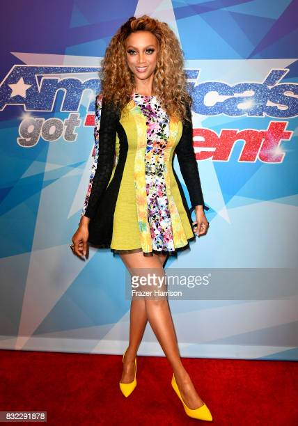 Tyra Banks attends the Premiere Of NBC's 'America's Got Talent' Season 12 at Dolby Theatre on August 15 2017 in Hollywood California