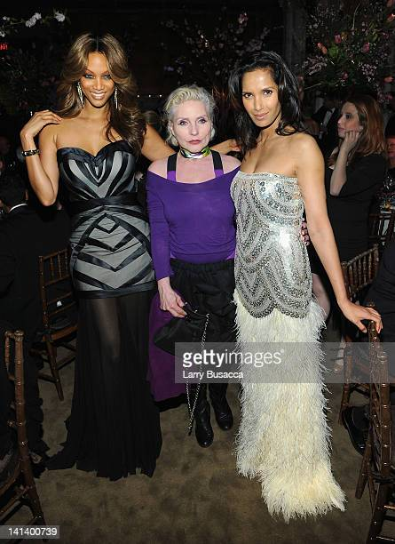 Tyra Banks Deborah Harry and Padma Lakshmi attend the Endometriosis Foundation of America's 4th annual Blossom Ball at The New York Public Library...