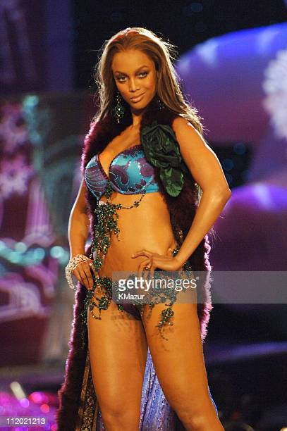 Tyra Banks during 10th Victoria's Secret Fashion Show Runway at The New York State Armory in New York City New York United States