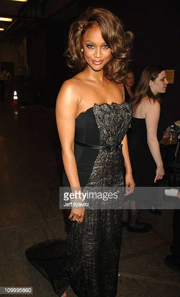 Tyra Banks during 33rd Annual Daytime Emmy Awards Backstage and Audience at Kodak Theater in Hollywood California United States