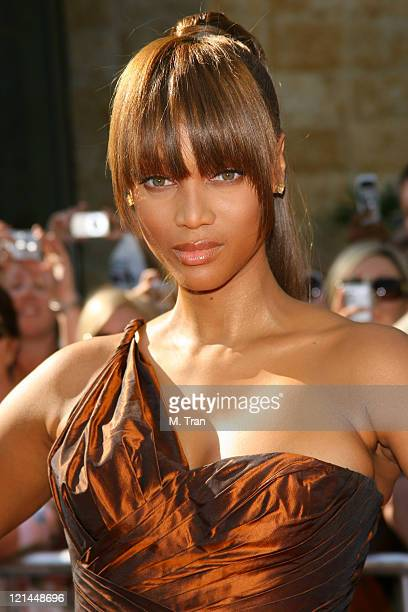 Tyra Banks during 34th Annual Daytime Emmy Awards Arrivals at Kodak Theatre in Hollywood California United States