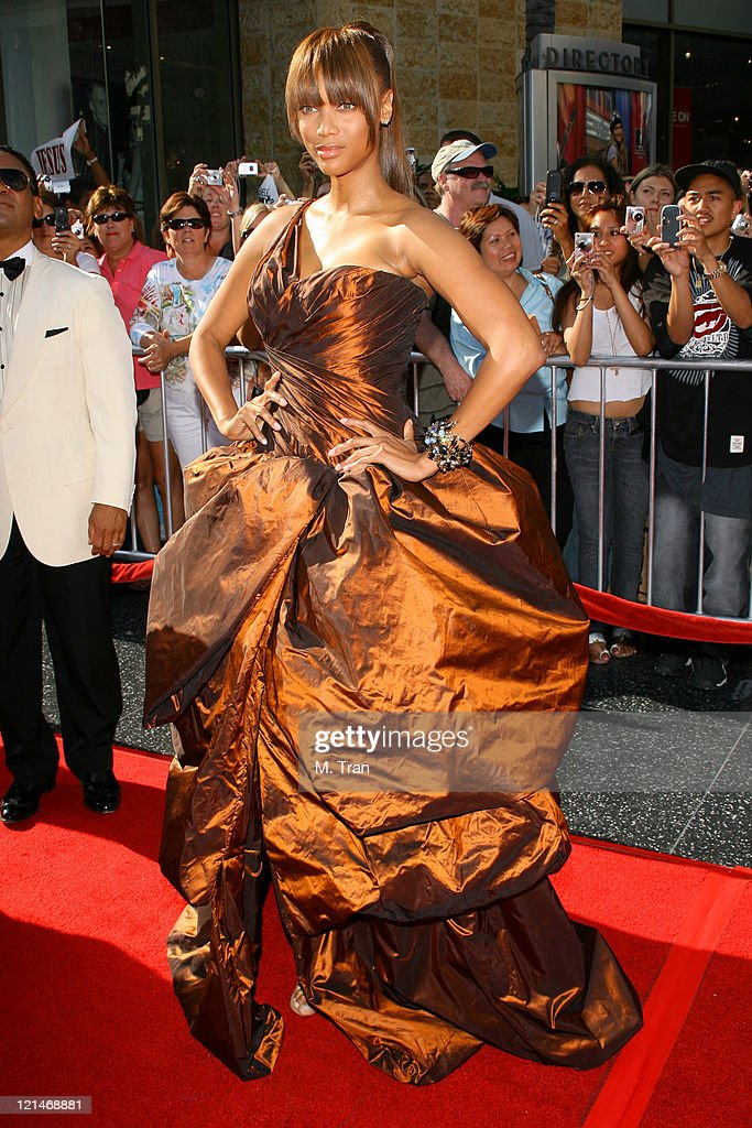 Tyra Banks during 34th Annual Daytime Emmy Awards - Arrivals at Kodak Theatre in Hollywood, California, United States.