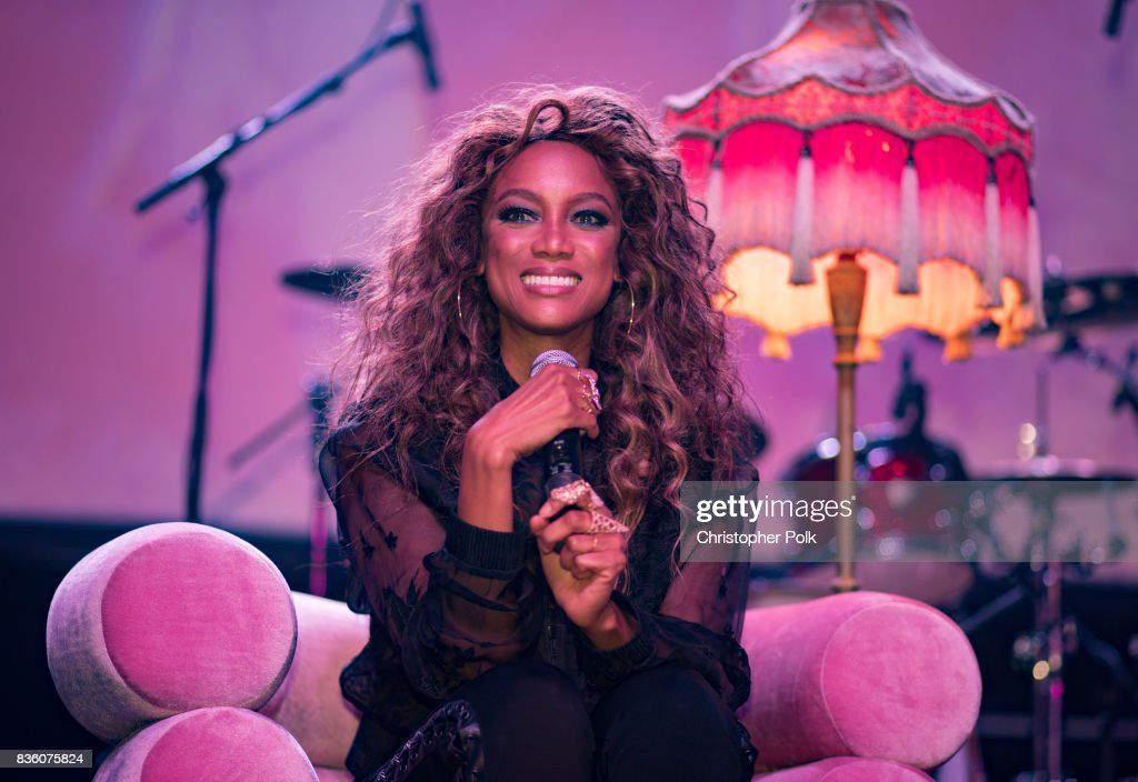 Tyra Banks during a Q&A at The Fonda Theatre on August 20, 2017 in Los Angeles, California.