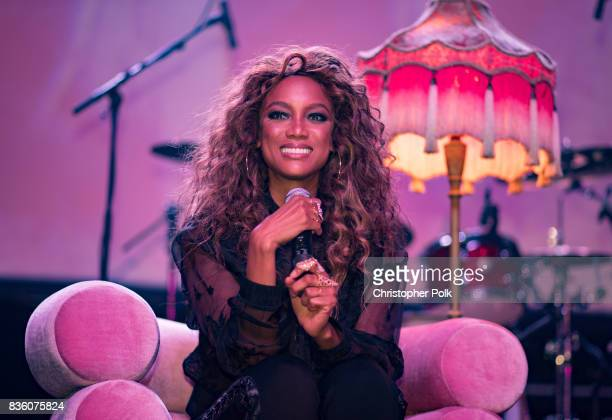 Tyra Banks during a QA at The Fonda Theatre on August 20 2017 in Los Angeles California