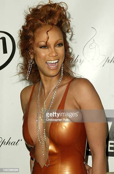 Tyra Banks during America's Next Top Model Season 2 Finale Party at Key Club in Hollywood California United States