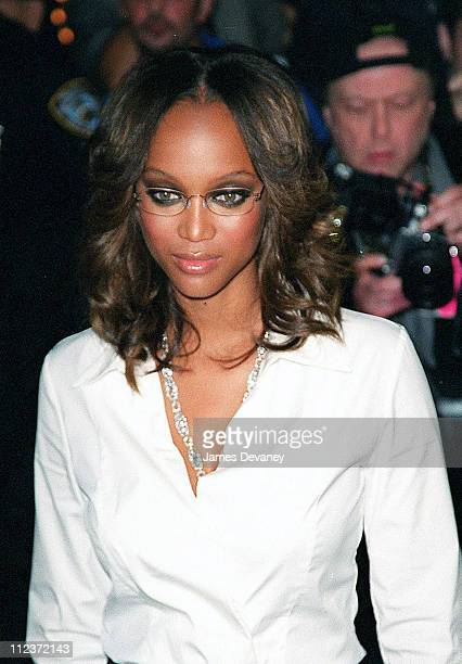 Tyra Banks during 'Coyote Ugly' New York Premiere at Ziegfeld Theatre in New York City New York United States