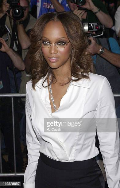 Tyra Banks during Coyote Ugly New York Premiere at Ziegfeld Theatre in New York City New York United States