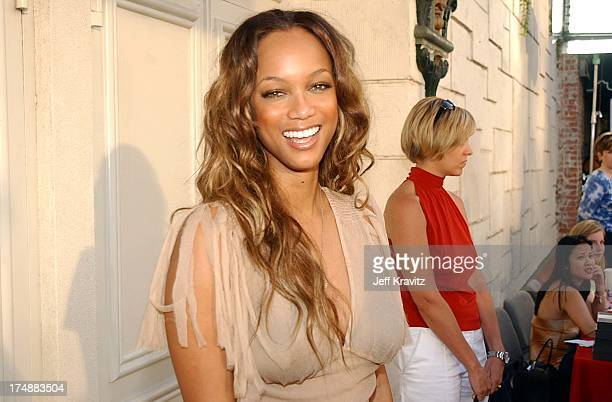 Tyra Banks during Premiere of Dimensions Films Halloween Resurrection in Los Angeles California United States