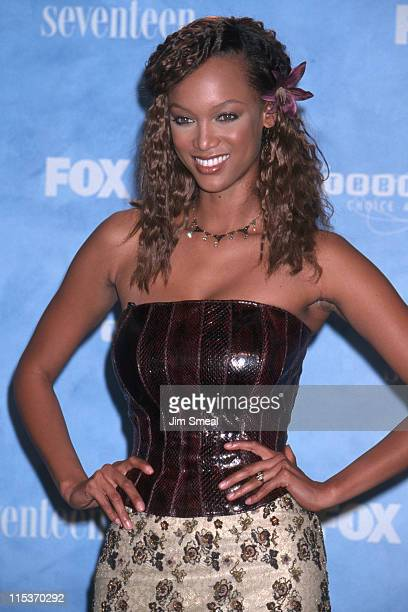 Tyra Banks during The 1st Annual Teen Choice Awards at Barker Hangar in Santa Monica California United States
