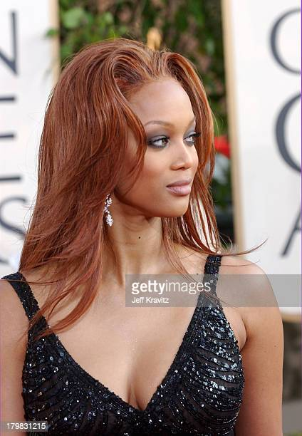 Tyra Banks during The 61st Annual Golden Globe Awards Arrivals at The Beverly Hilton Hotel in Beverly Hills California United States