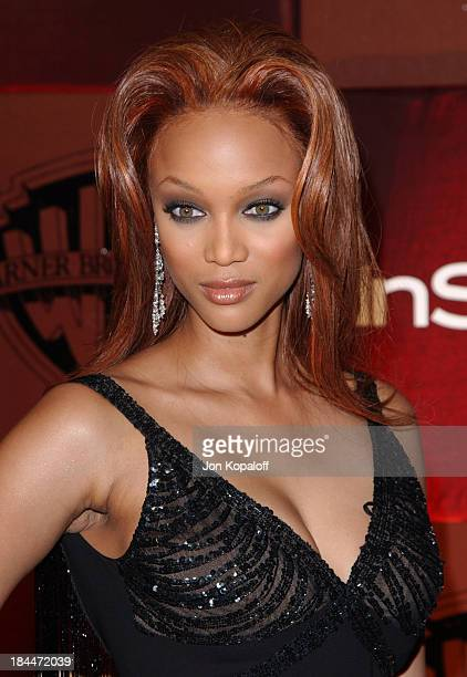 Tyra Banks during The 61st Annual Golden Globe Awards InStyle/ Warner Bros Golden Globe After Party Arrivals at The Beverly Hilton Hotel in Beverly...