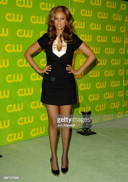 Tyra Banks during The CW Launch Party Arrivals at WB Main Lot in Burbank California United States