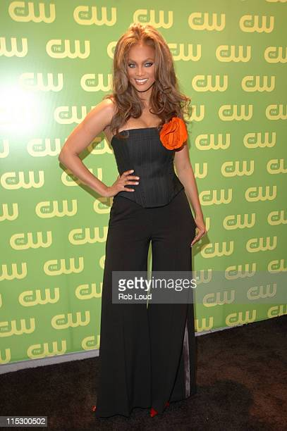 Tyra Banks during The CW Upfront Red Carpet at Madison Square Garden in New York, New York, United States.