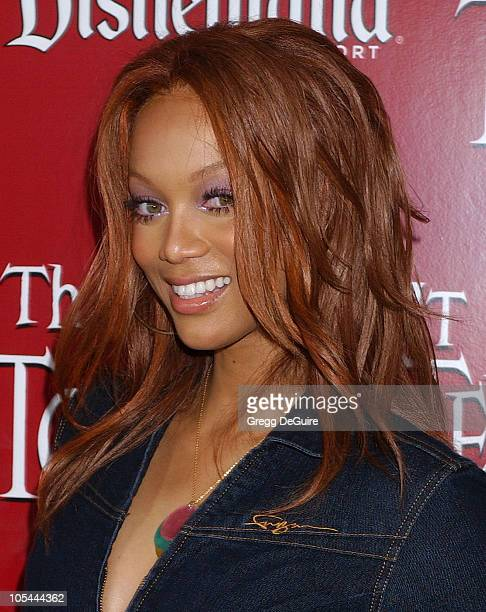 Tyra Banks during The Twilight Zone Tower of Terror Opens at Disney's California Adventure at California Adventure in Anaheim California United States
