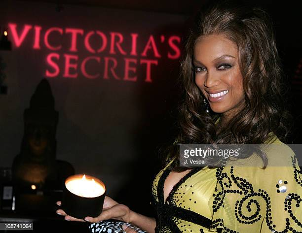 Tyra Banks during Victoria's Secret Launches Mood Home Fragrance Collection Hosted by Tyra Banks and Alessandra Ambrosio at Mood in Los Angeles...