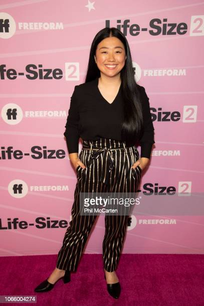 SIZE 2 Tyra Banks Francia Raisa the cast of LifeSize 2 A Christmas Eve and talent from across the Freeform family attend the pink carpet premiere...