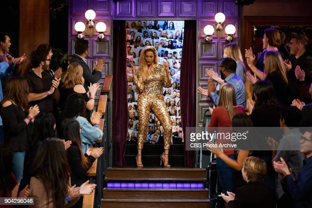 Tyra Banks greets the audience during 'The Late Late Show with James Corden' Wednesday January 10 2018 On The CBS Television Network
