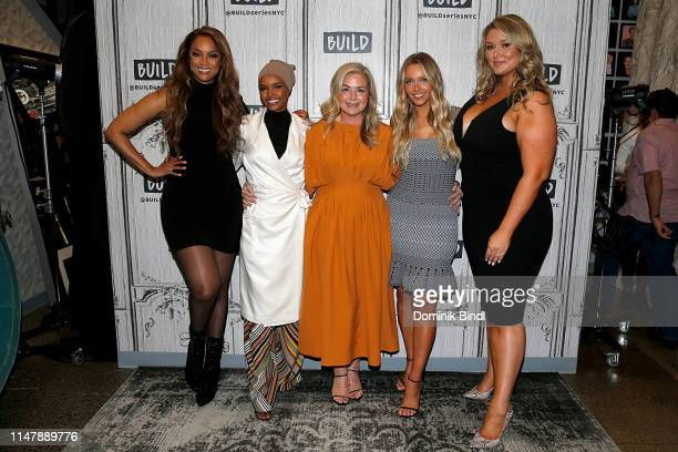 Tyra Banks Halima Aden MJ Day Camille Kostek and Hunter McGrady attend the Build Series to discuss '2019 Sports Illustrated Swimsuit Issue' at Build...