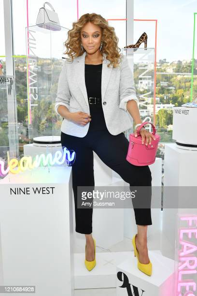 Tyra Banks hosts Nine West New campaign launch event in celebration of International Women's Day at ABG West Style Studio on March 05 2020 in West...