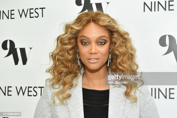 Tyra Banks hosts Nine West New campaign launch event in celebration of International Women's Day at ABG West Style Studio on March 05, 2020 in West...