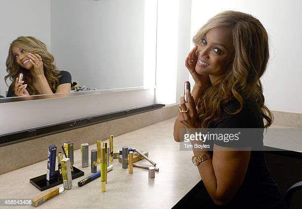 Tyra Banks influential supermodel and superbusinesswoman gets ready to offer a sneak peek of her new beauty line TYRA beauty during 'The Beauty...