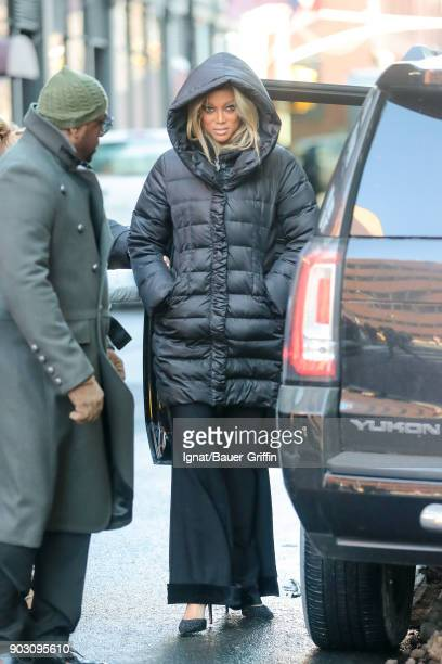 Tyra Banks is seen on January 09 2018 in New York City
