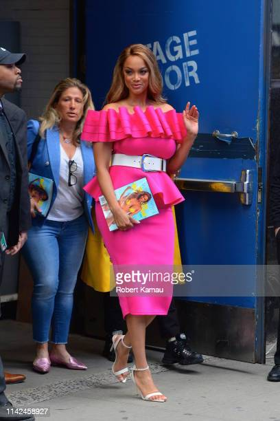 Tyra Banks is seen out and about in Manhattan on May 8 2019 in New York City