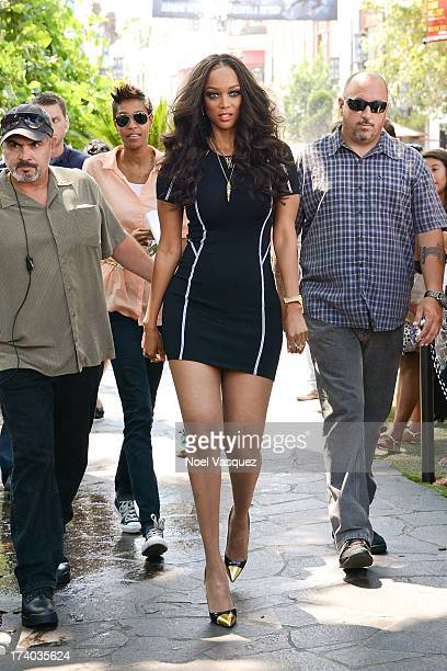 Tyra Banks is sighted at The Grove on July 19 2013 in Los Angeles California