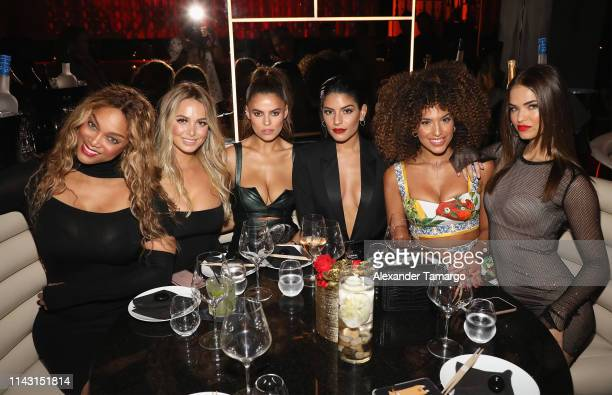 Tyra Banks Raine Michaels Brooks Nader Manuela Alvarez Hernandez Jessica Aidi and Robin Holzken attend the Sports Illustrated Swimsuit Celebrates...