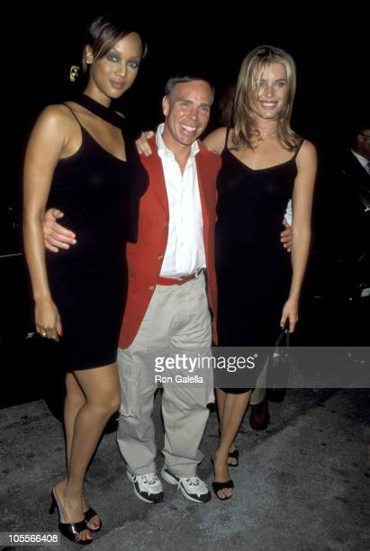 Tyra Banks Tommy Hilfiger and Rebecca Romijn during The American Dream Tommy Hilfiger Spring 1999 Men's Collection at Lot 61 in New York City New...