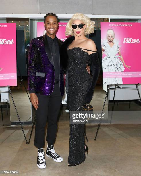 Tyra Sanchez and Valentina attend 'RuPaul's Drag Race' FYC Costume Exhibit at LASC on June 12 2017 in West Hollywood California