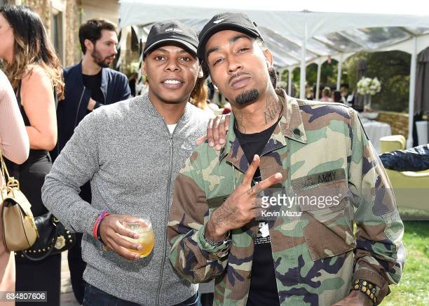 Tyran ÒTataÓ Smith and Don Flamingo attend 2017 Roc Nation PreGRAMMY brunch at Owlwood Estate on February 11 2017 in Los Angeles California