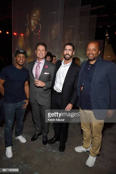 Tyran 'Tata' Smith CEO of TechStyle Don Ressler and Jay Brown attend the launch of Rihanna's global lingerie brand Savage X Fenty at Villain on May...