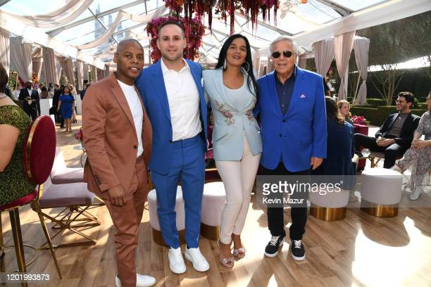 Tyran Tata Smith Michael Rubin Roc Nation COO Desiree Perez and Robert Kraft attend 2020 Roc Nation THE BRUNCH on January 25 2020 in Los Angeles...
