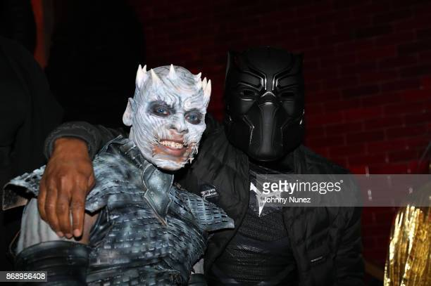 Tyran 'Ty Ty' Smith and Charlamagne tha God attend the Lenny S LaLa Anthony Halloween Party at TAO Downtown on October 31 2017 in New York City