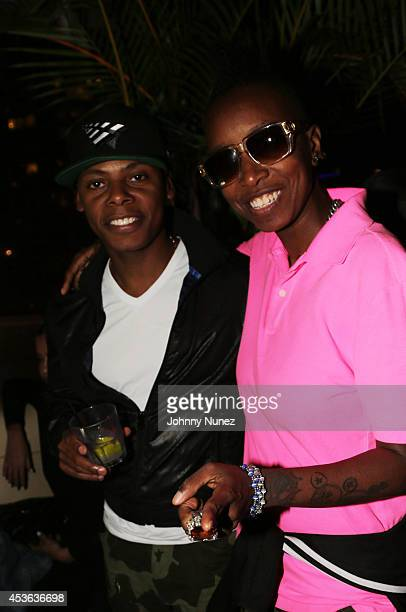 Tyran 'Ty Ty' Smith and DJ Jazzy Joyce attend DJ Mustard's Album Release Party at Level R on August 14 2014 in New York City