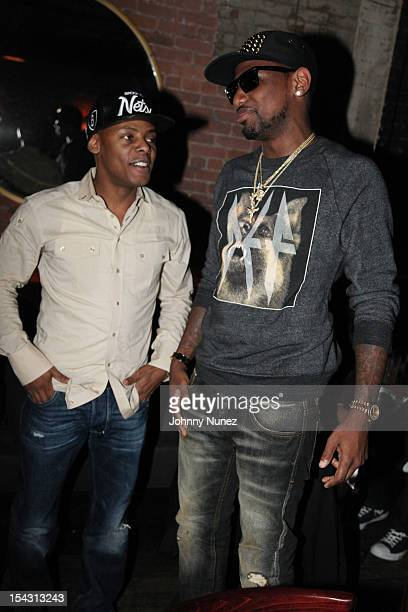 Tyran Ty Ty Smith and Fabolous attend NeYo's Birthday Dinner at Acme on October 17 2012 in New York City