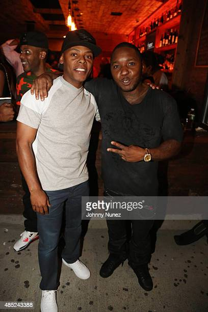 Tyran 'Ty Ty' Smith and Lil Cease attend the Manhattan Brew Vine Grand Opening at Manhattan Brew Vine on August 25 in New York City