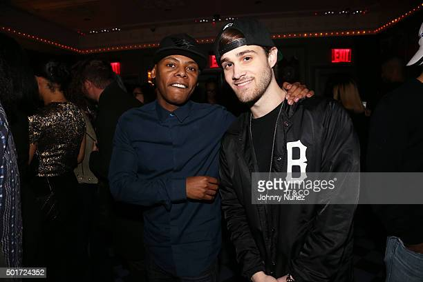 Tyran 'Ty Ty' Smith and Marco Foster attend the 2015 Def Jam Christmas Party at Up Down on December 16 in New York City