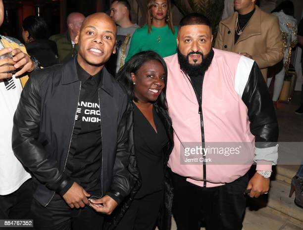 Tyran 'Ty Ty' Smith Chaka Pilgrim and DJ Khaled attend The Four cast Sean Diddy Combs Fergie and Meghan Trainor Host DJ Khaled's Birthday Presented...