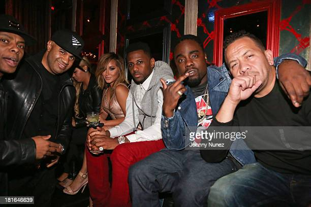 Tyran 'Ty Ty' Smith Lenny S Adrienne Bailon Fabolous Wale and Elliott Wilson attend Kevin Durant's 25th Birthday Party at Avenue on September 22 2013...