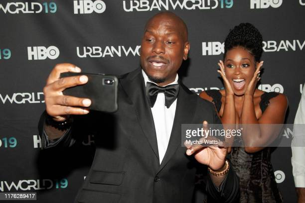 Tyrease Gibson and Nafessa Williams attends the premiere of Black and Blue on day three of the 2019 Urbanworld Film Festival on September 21 2019 in...
