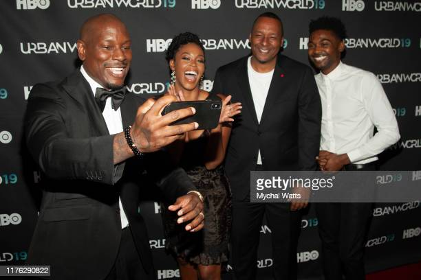 Tyrease Gibson Nafessa Williams Deon Taylor and Mike Coulter attend the premiere of Black and Blue on day four of the 2019 Urbanworld Film Festival...