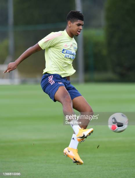 Tyreece John-Jules of Arsenal during the Arsenal U23 training session at London Colney on August 17, 2020 in St Albans, England.