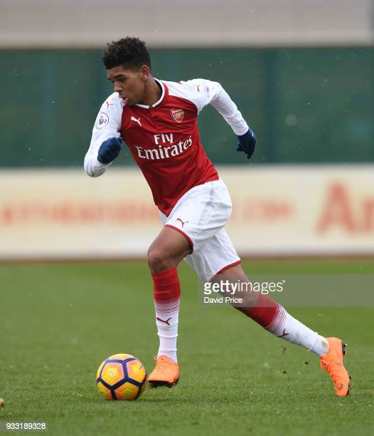 Tyreece JohnJules of Arsenal during the match between Arsenal U23 and Chelsea U23 at London Colney on March 17 2018 in St Albans England
